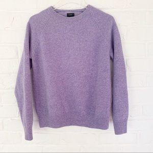 J. Crew Lavender Lamb Wool Sweater